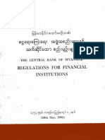 Myanmar Financial Regulations 1992