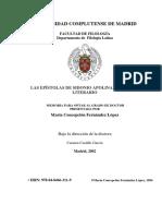 San Sidonio Apolinar - Las Epístolas de Sidonio Apolinar Estudio Literario - María Concepción Fernández López