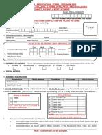 Medical Application Form - Session 2018
