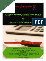 Quant Power Question Bank By Governmentadda.com.pdf