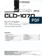 Pioneer CLD1070 Service Manual