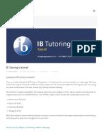 IB Tutoring in Kuwait - Testprepkart