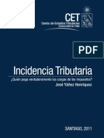 Incidencia Tributaria Cet 2010