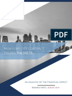NYC Contract Delays the Facts