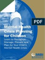 Mental Health Crisis planningfor children