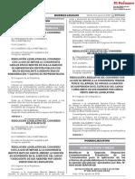 Resolución Legislativa del Congreso con la que se impone al congresista Carlos Bruce Montes de Oca la sanción de amonestación escrita pública con multa equivalente a sesenta días de remuneración y gastos de representación