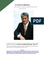 In search of legitimacy - John Ake