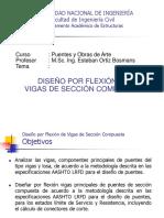 2018-1 EC323J Tema 09a - Flexión en Vigas de Sección Compuesta