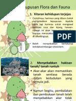 Kesan Kepupusan Flora Dan Fauna