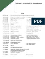 Pre Convention Schedule