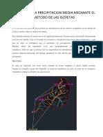 Calculo de La Precipitacion Media Mediante El Metodo de Las Isoyeta1