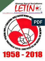 Boletindel Ateneo Paz y Socialismo de septeimbre de 2018