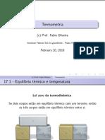 Aula 17 - Termometria