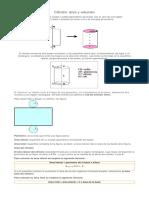 área y volumen cilindro