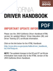 California Driver Hankbook