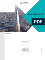 Edhec Phd in Finance Brochure 2018