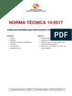 NT 14 2017 Carga de Incêndio Nas Edificações e Áreas de Risco