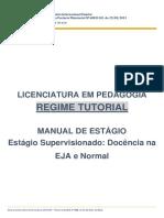 Regime Tutorial Manual Estágio Docência Eja e Normal 2018