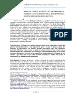CONTRIBUIÇÕES DAS TEORIAS DO TEXTO E DO DISCURSO PARA O ENSINO-APRENDIZAGEM DE LÍNGUAS ESTRANGEIRAS