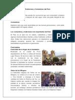 Tradiciones y Costumbres Del Perú