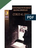 Plan Estrategico de Desarrollo Concertado Cusco al 2012