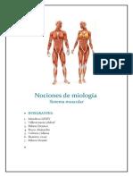 Nociones de Miologia