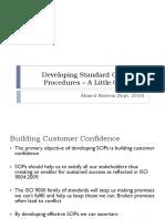 Developing Standard Operating Procedures – A Little Guidance