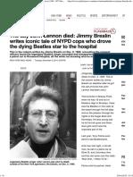 Jimmy Breslin Tells of Cops Who Aided John Lennon in 1980