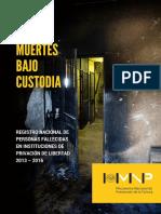 Informe Muertes bajo custodia 2013-2016 - MNP Paraguay
