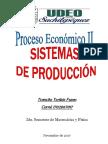 Sistemas de Producción Economía
