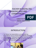 Role of Teacher in Digital Era