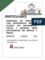 Clases ParticularesII