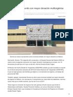 18-08-2018 - Es el HGE el segundo con mayor donación multiorgánica en el país - opinionsonora