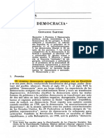 Democracia, Sartori