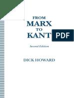 Dick Howard (auth.) - From Marx to Kant (1993, Palgrave Macmillan UK).pdf