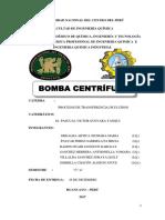 Informe de Bomba