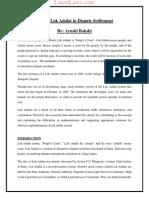 Role of Lok Adalat in Dispute Settlement by Arushi Bakshi