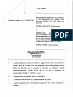 Declaration d'Appel