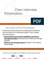Dennis Chen Interview Presentation