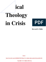 Biblical Theology in Crisis