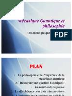 Mécanique Quantique et philosophie - Lyon Court