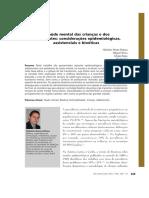 A Saude Mental Das Criancas e Dos Adolescentes- Consideracoes Epidemiologicas, Assistenciais e Bioeticas