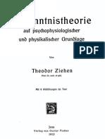 Theodor Ziehen - Erkenntnistheorie