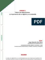 Ponencia  - Unidad 1 - Matriz de Adquisiciones
