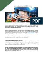Tips Paling Cerdik Bermain Judi Bola Online