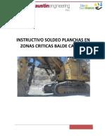 Instructivo - Soldeo Planchas Antiabrasivas en Zonas Criticas Balde CAT6060