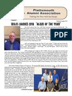August 2018 Alumni Newsletter