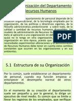 ORGANIZACIÓN DEL DEPARTAMENTO DE RECURSOS HUMANOS.ppt