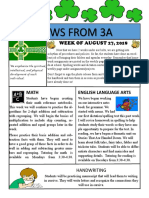 3a newsletter week of august 27 2018