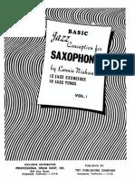 Lenny Niehaus - Jazz Conception for Saxophone Vol.1 - Basic